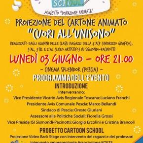 """Cartoon School"""" al cinema Splendor di Pescia il 3 giugno"""