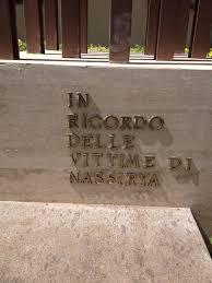 Pescia mercoledì 31 luglio. Omaggio floreale di  Consiglieri comunali da deporre ai piedi del monumento ai Caduti di Nassiriya