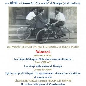 Stiappa sabato 20 luglio. Convegno in memoria dello  storico della Valleriana Egidio Iacopi.