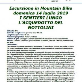 """Escursione CAI 14 luglio 2019 """"I sentieri lungo l'acquedotto del Nottolini"""" - Mountain Bike -"""