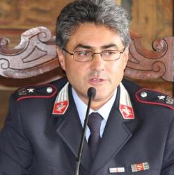 """Pescia, il saluto del comandante della polizia municipale Luigi Giordano     Giurlani """"Grazie per il suo contributo, potenzieremo il corpo"""""""
