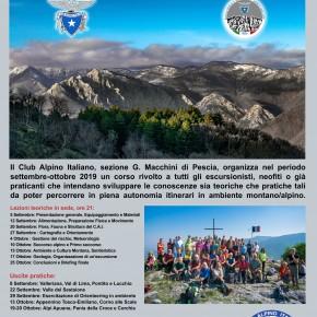Il Club Alpino Italiano di Pescia organizza un corso di Escursionismo Base rivolto a tutti coloro che vogliono avvicinarsi alla montagna