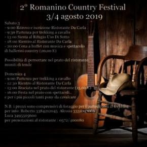 """Ristorante """"da Carla"""" 3 e 4 agosto.  2° Romanino Country Festival"""