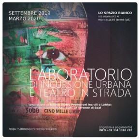 Due progetti teatrali presto partiranno presso Lo Spazio Bianco di Montecatini Terme.