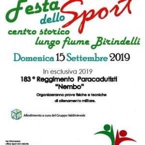 Pescia domenica 15 settembre. Festa dello Sport Centro Storico e Lungofiume