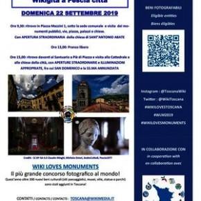 Domenica 22 settembre. WIKI GITA Visita guida alla città di Pescia