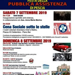 Pescia 7 e 8 settembre. Festa della Pubblica Assistenza