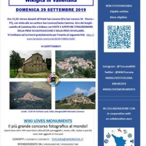 Domenica 29 settembre WIKI GITA visita guidata nella Valleriana