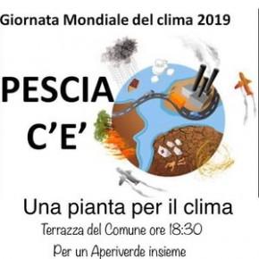 """Venerdì 27 settembre. Giornata Mondiale del Clima 2019: Pescia c'è """"Una pianta per il clima"""" - per un Aperiverde insieme -"""