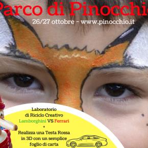 Al Parco di Pinocchio impariamo a costruire automobiline con materiale di riciclo e dal 31 ottobre: Pinocchio Speciale Halloween