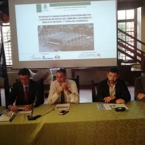 Pescia Palagio. Conferenza stampa sui lavori di manutenzione straordinaria al nuovo Mercato dei Fiori