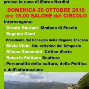 """Vellano  Circolo A.R.C.I. domenica 20 0ttobre. Cerimonia d'inaugurazione  del monumento dedicato alla filarmonica """"Giuseppe Verdi"""" di Vellano"""