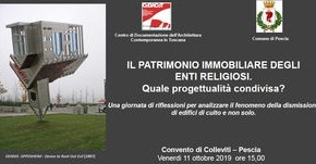 """Venerdì 11 ottobre Convento di Colleviti. Convegno """"Il Patrimonio immobiliare degli Enti Religiosi. Quale progettualità condivisa?"""""""