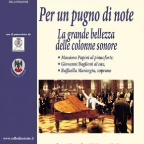 """Collodi sabato 19 ottobre sala del Grillo, osteria del Gambero Rosso di Collodi.""""Concerto: Per un pugno di note. La grande bellezza delle colonne sonore"""""""