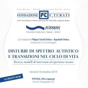 """Pistoia Villa Cappugi  venerdì 18 ottobre 2019.  Convegno """"Disturbi di spettro autistico e transizioni nel ciclo di vita. Ricerca, modelli di intervento ed esperienze toscane"""""""