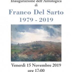 Pescia. Sala conferenze del Palagio venerdì 15 novembre. Inaugurazione dell'Antologica di Franco Del Sarto 1979-2019