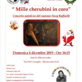 Montecarlo (Lucca) domenica 8 dicembre. ''Mille cherubini in coro'' Concerto natalizio del soprano Sissy Raffaelli