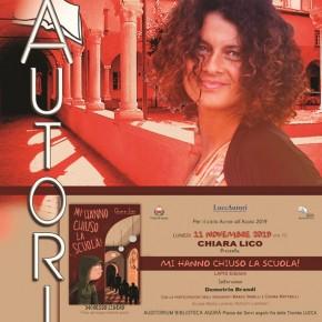 Lunedì 11 novembre Biblioteca Agorà di Lucca. CHIARA LICO ospite di  ''Autori all'Agorà''.