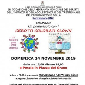 Pescia 24 Novembre 2019. Cerotti Colorati Clown