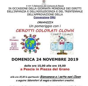 Pescia 24 Novembre 2019. Cerotti Colorati Clown