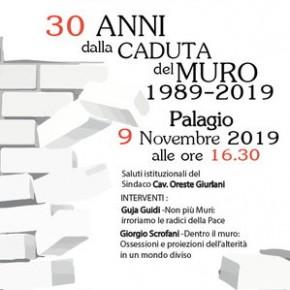 """Palagio sabato 9 novembre. Conferenza """"30 anni dalla caduta del muro 1989-2019"""","""