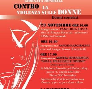 Pescia 25 novembre. Giornata Mondiale contro la Violenza sulle Donne Inaugurazione panchine - Mostra Fotografica - Conferenza