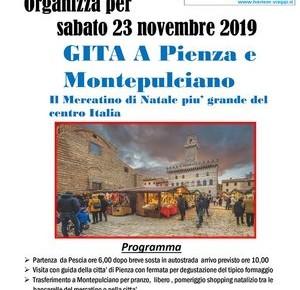Parrocchia di Castelvecchio. Sabato 23 novembre Gita a Pienza e Montepulciano