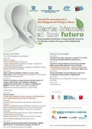 """Pescia Palagio venerdì 29 novembre. Convegno """"Carta Bianca al tuo Futuro""""."""
