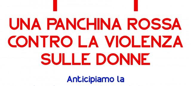 Una panchina rossa contro la violenza sulle donne a Chiesina Uzzanese