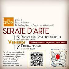 PESCIA. SERATE D'ARTE AL LICEO ARTISTICO BERLINGHIERI