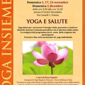 Autunno in Yoga, appuntamento la domenica mattina a Pistoia