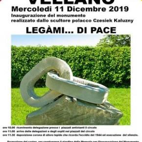 """Vellano mercoledì 11 dicembre. """"LEGAMI...DI PACE"""" - Inaugurazione Monumento"""