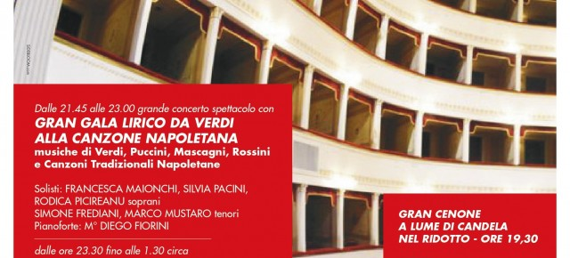 Pescia Teatro Pacini. Gran galà lirico, canzone napoletana e swing per il Capodanno 2020.