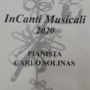 Sabato 18 gennaio. InCanti Musicali 2020 Carlo Solinas - Pianoforte -
