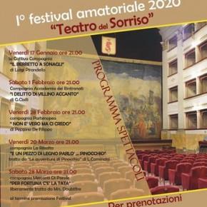 """Pescia Teatro Pacini. I° Festival Amatoriale 2020 - Teatro del Sorriso. Venerdì 17 gennaio  la commedia""""Il berretto a sonagli"""" di Luigi Pirandello.."""