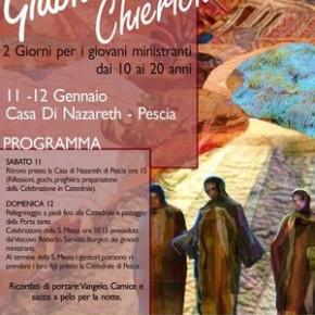Casa di Nazareth sabato 11 e domenica 12 gennaio. Giubileo dei Chierichetti