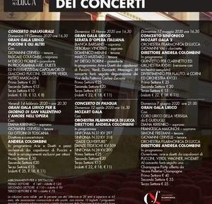 """Pescia Teatro Pacini Prima Stagione dei Concerti. Domenica 19 gennaio ore 16.30: Concerto Inaugurale.""""Gran Galà Lirico. Puccini e gli altri""""."""