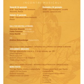 Palagio sabato 25 gennaio. Concerto musicale organizzato dall'associazione Floema