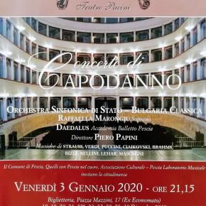 Teatro Pacini Pescia Venerdì 3 gennaio.  Concerto di Capodanno 2020 con l'Orchestra Sinfonica di Stato-Bulgaria Classica.