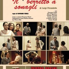 """Pescia Teatro Pacini venerdì17 gennaio. Teatro del Sorriso, via alla prima: """"Il berretto a sonagli"""" di Pirandello con La Cattiva Compagnia"""