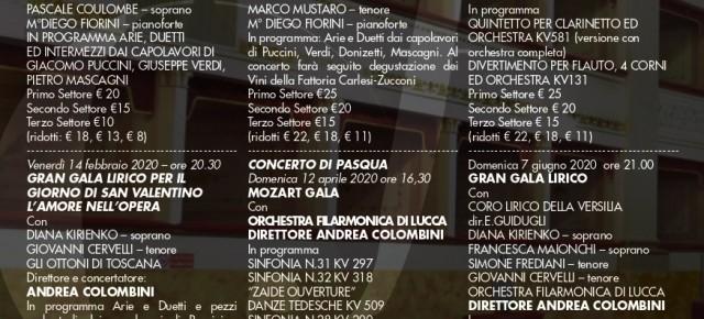 """Teatro Pacini Pescia domenica 19 gennaio. """"Gran Galà Lirico. Puccini e gli altri"""" per la prima della stagione lirica"""