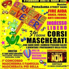 Carnevale di Veneri - 39^ edizione Domeniche del 2, 9 e 16 febbraio 2020