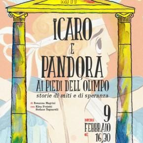 """Teatro Pacini, domenica 9 febbraio. Icaro e Pandora ai piedi dell'Olimpo"""" per la stagione dedicata ai bambini  """"Storie di miti e di speranza"""" con la compagnia teatrale Mimesis"""