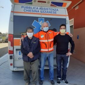 Il gruppo consiliare Chiesina e le Sue Frazioni ha donato 600 mascherine chirurgiche alla Pubblica Assistenza.
