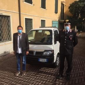 """Ritrovato dai carabinieri di Pescia il Porter rubato     Giurlani """" Il nostro appello è stato raccolto"""""""