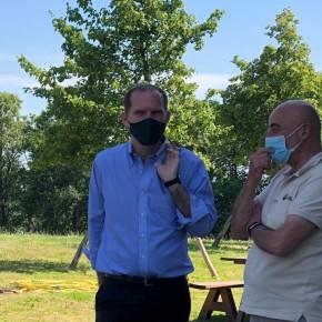 Il presidente nazionale di Confagricoltura ha incontrato ieri al Dynamo Camp i vice presidenti pistoiesi Mati e Vannucci