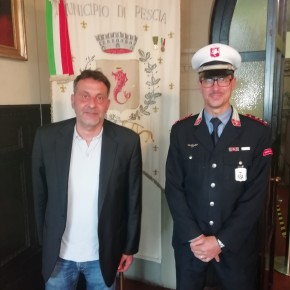 """Fabrizio Natalini nuovo comandante della polizia municipale di Pescia     Giurlani """"Una scelta interna per valorizzare il nostro personale"""""""