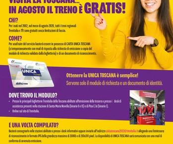 I neo-diciottenni in treno gratis per tutto il mese di agosto  Per visitare la Toscana