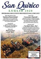 San Quirico eventi del mese di luglio 2020. Mercoledì 22 luglio Tombola.