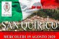 San Quirico: mercoledì 19 agosto 2020. 76° anniversario eccidio del 1944